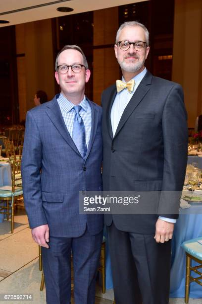 Adam Siegel and Guest attend It's About Time to Celebrate Andre Bishop's 25 Years at Lincoln Center Theater at David Geffen Hall on April 24 2017 in...