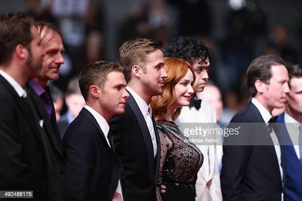 Adam Siegel Benoit Debie Iain De Caestecker Ryan Gosling Christina Hendricks Geoffrey Arend and Reda Kateb attend the 'Lost River' premiere during...
