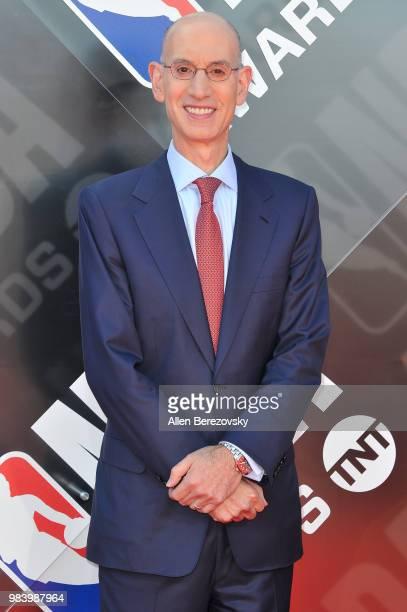 Adam Silver attends the 2018 NBA Awards Show at Barker Hangar on June 25 2018 in Santa Monica California