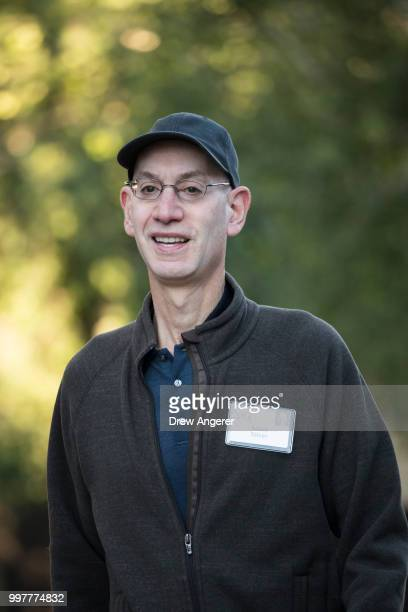 Adam Silver commissioner of the National Basketball Association the annual Allen Company Sun Valley Conference July 13 2018 in Sun Valley Idaho Every...