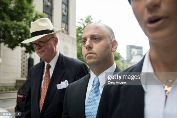 Adam Skelos son of Dean Skelos a former Republican politician and the former Majority Leader of the New York State Senate exits federal court July 17...
