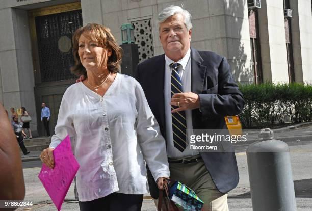 Adam Skelos son of former New York State Senate Majority Leader Dean Skelos arrives at federal court in New York US on Tuesday June 19 2018 Skelos...
