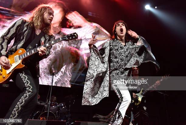 Adam Slack and Luke Spiller of The Struts perform during ALT 1053's Not So Silent Night 2018 at SAP Center on December 8 2018 in San Jose California