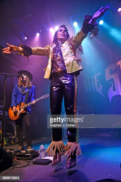 Adam Slack and Luke Spiller of The Struts performs at Mercury Ballroom on October 31 2017 in Louisville Kentucky