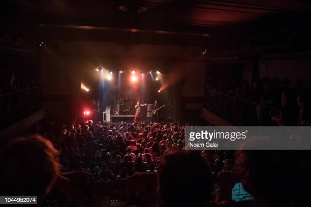 Adam Slack Gethin Davies Luke Spiller and Jed Elliott of The Struts perform in concert at Bowery Ballroom on October 2 2018 in New York City