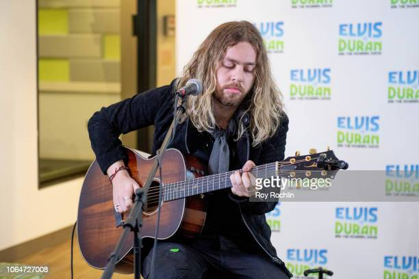 Adam Slack of The Struts performs as they visit the Elvis Duran show at Z100 Studio on November 07 2018 in New York City