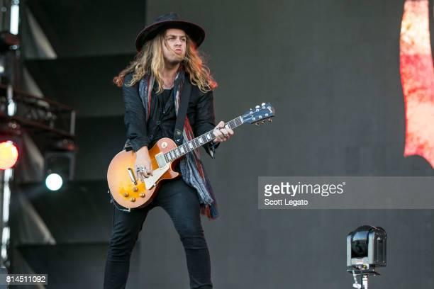 Adam Slack of The Struts performs at Festival d'ete de Quebec on July 13 2017 in Quebec City Canada