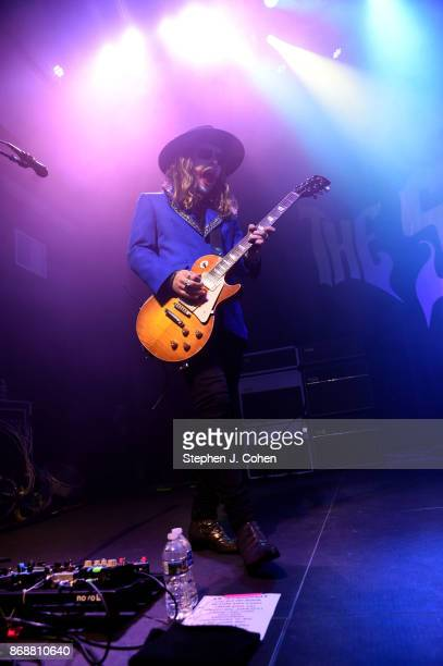 Adam Slack of The Struts performs at Mercury Ballroom on October 31 2017 in Louisville Kentucky