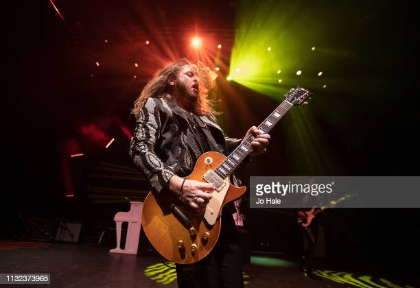Adam Slack of The Struts performs at O2 Shepherd's Bush Empire on February 26 2019 in London England