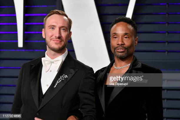 Adam Smith and Billy Porter attend the 2019 Vanity Fair Oscar Party hosted by Radhika Jones at Wallis Annenberg Center for the Performing Arts on...