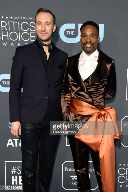 Adam Smith and Billy Porter attend the 24th annual Critics' Choice Awards at Barker Hangar on January 13 2019 in Santa Monica California