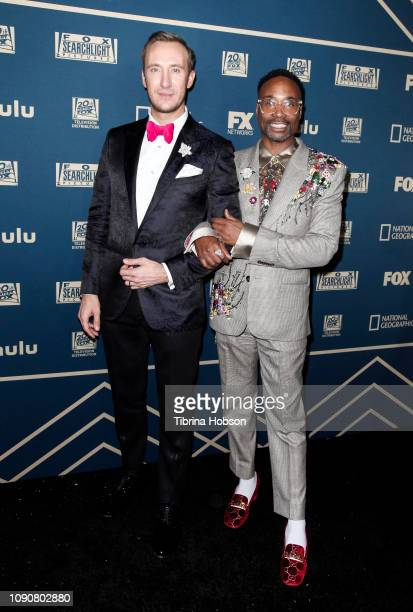 Adam Smith and Billy Porter attend the FOX FX and Hulu 2019 Golden Globe Awards after party at The Beverly Hilton Hotel on January 06 2019 in Beverly...