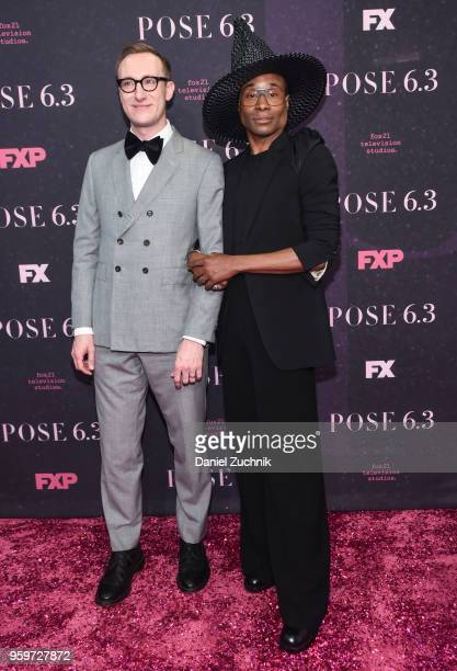 Adam Smith and Billy Porter attend the New York premiere of FX series 'Pose' at Hammerstein Ballroom on May 17 2018 in New York City