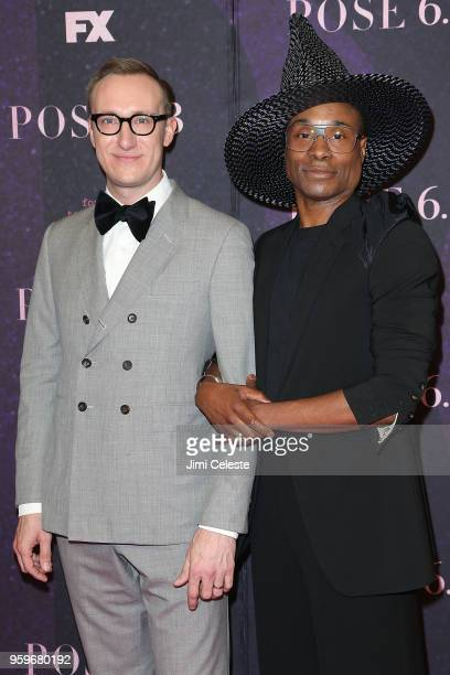 Adam Smith and Billy Porter attend the New York premiere of 'Pose' at the Hammerstein Ballroom on May 17 2018 in New York New York
