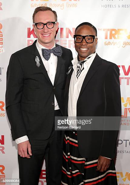 Adam Smith and Broadway performer Billy Porter attend The Trevor Project's TrevorLIVE New York on June 13 2016 in New York City