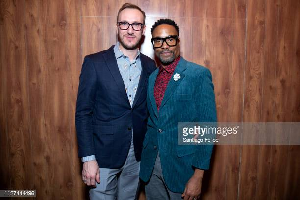 Adam Smith and NYFW Men's Ambassador Billy Porter attend 'Todd Snyder' show at Pier 59 Studios on February 04 2019 in New York City