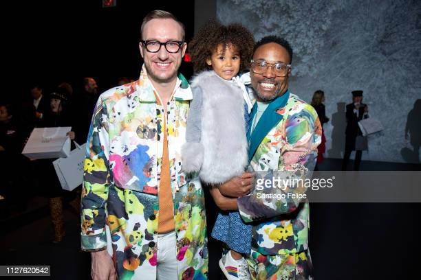 Adam Smith Aria De Chicchis and NYFW Men's Ambassador Billy Porter attend 'Wan Hung' show at Pier 59 Studios on February 05 2019 in New York City