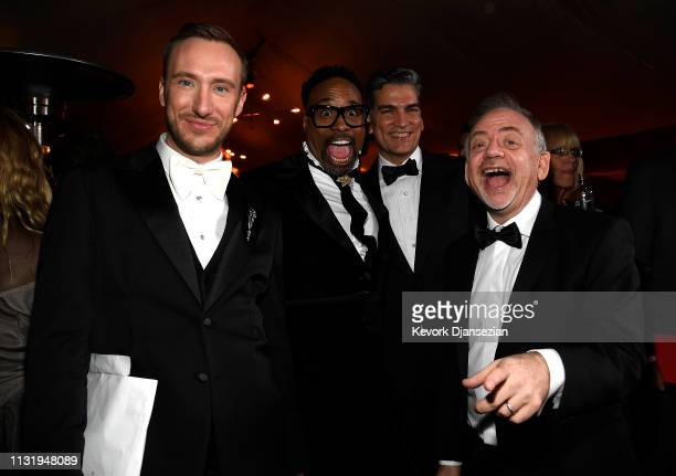 Adam Smith Billy Porter Louis Mirabal and Marc Shaiman attends the 91st Annual Academy Awards Governors Ball at Hollywood and Highland on February 24...