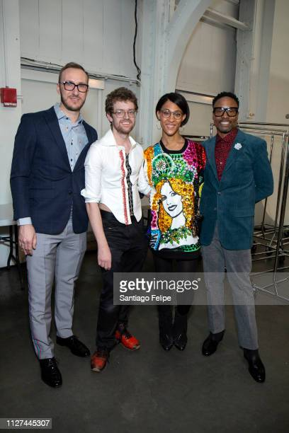 Adam Smith Neil Patrick Grotzinger MJ Rodriguez and NYFW Men's Ambassador Billy Porter at Pier 59 Studios on February 04 2019 in New York City