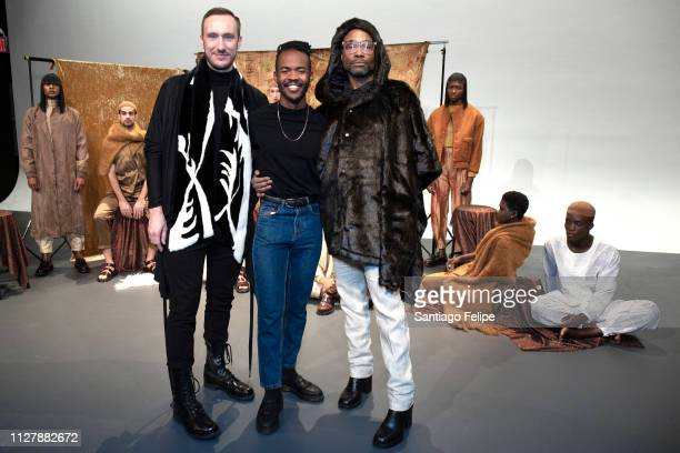 Adam Smith 'NYFW Men's Ambassador' Billy Porter and Lukhanyo Mdingi at 'Lukhanyo Mdingi' Presentation at Pier 59 Studios on February 06 2019 in New...