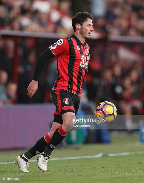 Adam Smith of AFC Bournemouth during the Premier League match between AFC Bournemouth and Sunderland at Vitality Stadium on November 5 2016 in...