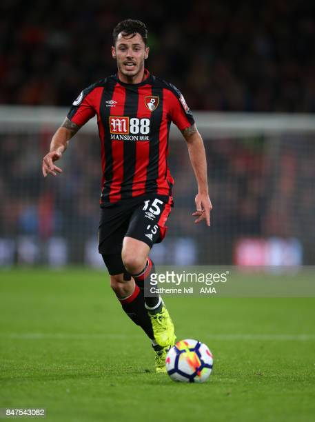 Adam Smith of AFC Bournemouth during the Premier League match between AFC Bournemouth and Brighton and Hove Albion at Vitality Stadium on September...