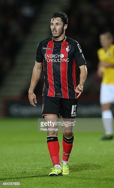 Adam Smith of AFC Bournemouth in action during the Capital One Cup Second Round match between AFC Bournemouth and Northampton Town at Goldsands...
