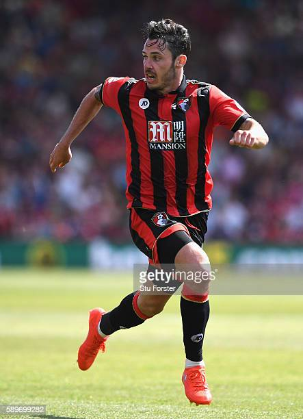 Adam Smith of AFC Bournemouth in action during the Premier League match between AFC Bournemouth and Manchester United at Vitality Stadium on August...
