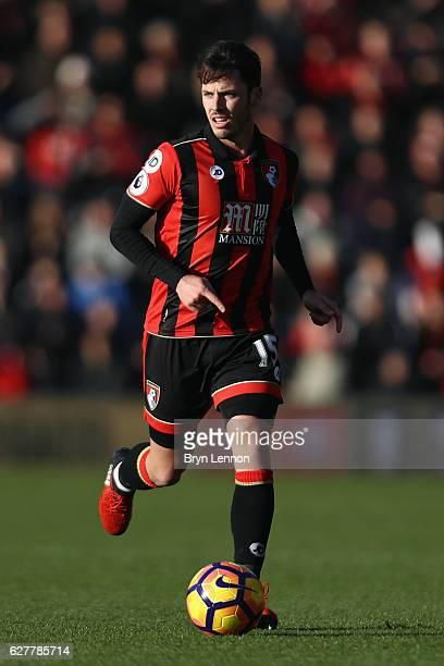 Adam Smith of AFC Bournemouth in action during the Premier League match between AFC Bournemouth and Liverpool at Vitality Stadium on December 4 2016...