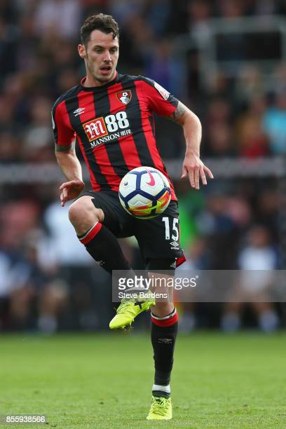 Adam Smith of AFC Bournemouth in action during the Premier League match between AFC Bournemouth and Leicester City at Vitality Stadium on September...