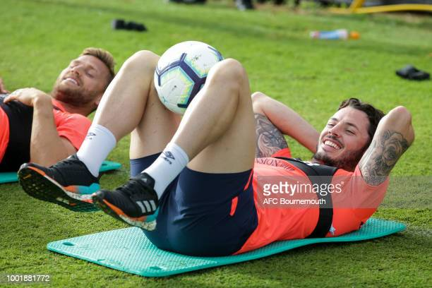 Adam Smith of Bournemouth during preseason training on July 19 2018 in La Manga Spain