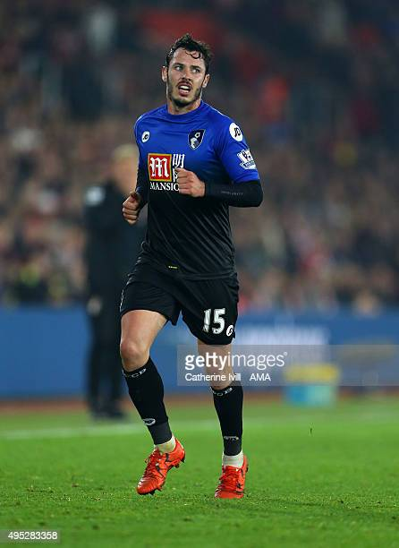 Adam Smith of Bournemouth during the Barclays Premier League match between Southampton and AFC Bournemouth at St Mary's Stadium on November 1 2015 in...