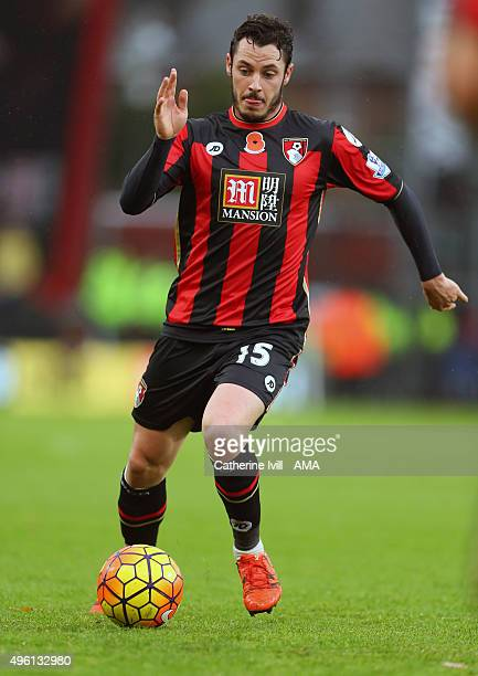 Adam Smith of Bournemouth during the Barclays Premier League match between AFC Bournemouth and Newcastle United at Vitality Stadium on November 7...