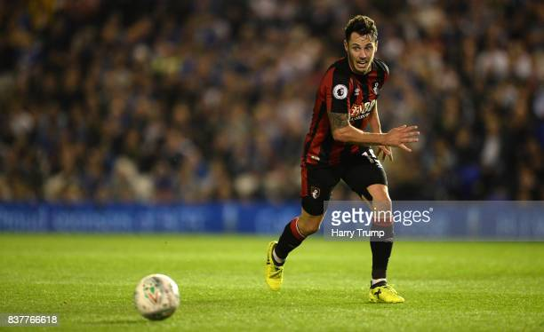 Adam Smith of Bournemouth during the Carabao Cup Second Round match between Birmingham City and AFC Bournemouth at St Andrews Stadium on August 22...