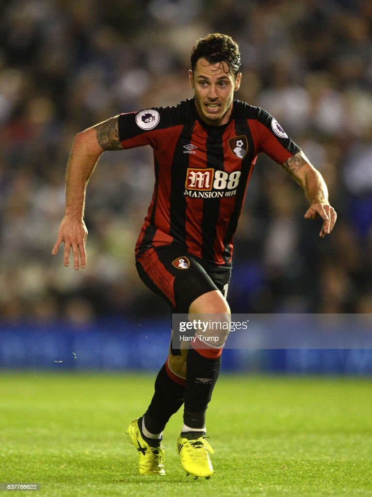 Adam Smith of Bournemouth during the Carabao Cup Second Round match between Birmingham City and AFC Bournemouth at St Andrews Stadium on August 22, 2017 in Birmingham, England.