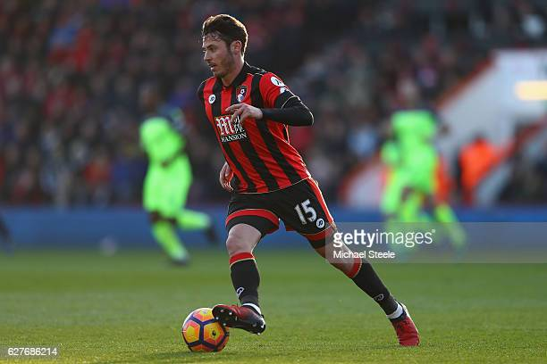 Adam Smith of Bournemouth during the Premier League match between AFC Bournemouth and Liverpool at the Vitality Stadium on December 4 2016 in...