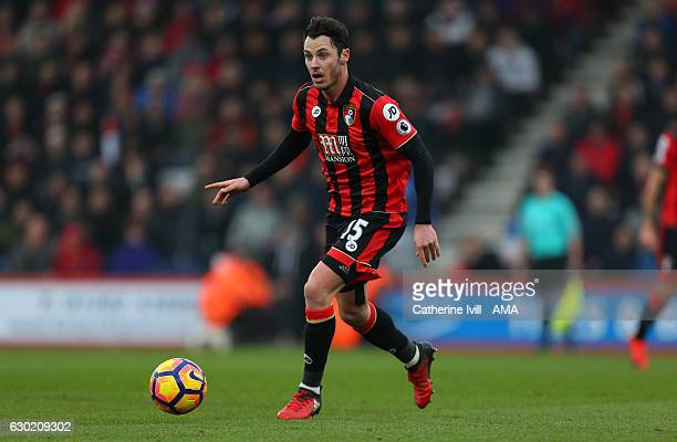 Adam Smith of Bournemouth during the Premier League match between AFC Bournemouth and Southampton at Vitality Stadium on December 18 2016 in...