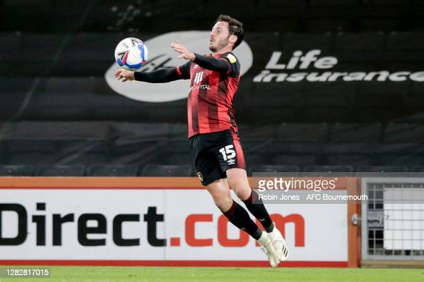 Adam Smith of Bournemouth during the Sky Bet Championship match between AFC Bournemouth and Bristol City at Vitality Stadium on October 28 2020 in...