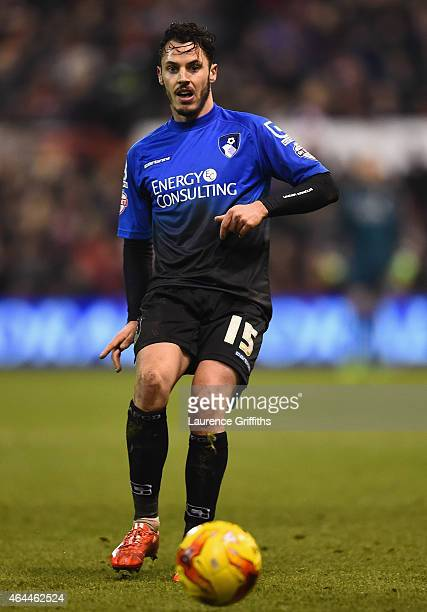 Adam Smith of Bournemouth during the Sky Bet Championship match between Nottingham Forest and AFC Bournemouth at City Ground on February 25 2015 in...