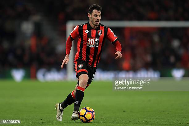 Adam Smith of Bournemouth in action during the Premier League match between AFC Bournemouth and Watford at Vitality Stadium on January 21 2017 in...