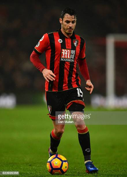 Adam Smith of Bournemouth in action during the Premier League match between AFC Bournemouth and Crystal Palace at Vitality Stadium on January 31 2017...