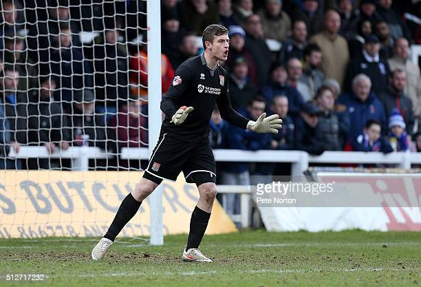 Adam Smith of Northampton Town in action during the Sky Bet League Two match between Hartlepool United and Northampton Town at Victoria Park on...