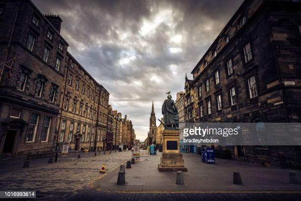 Adam Smith statue on The Royal Mile in Edinburgh, Scotland