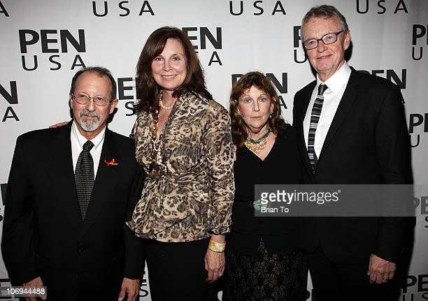 Adam Somers Holly Palance Jamie Wolf and Bob Wallace attend 20th annual Literary Awards Festival at Beverly Hills Hotel on November 17 2010 in...