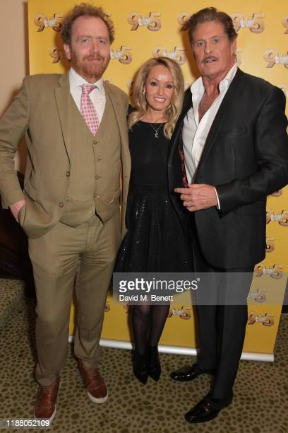 Adam Speers, Hayley Roberts Hasselhoff and David Hasselhoff attend the gala party to celebrate David Hasselhoff joining the cast of the West End...