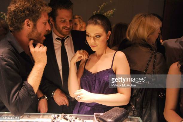 Adam Spoont Evan Yurman and Michelle Trachtenberg attend DAVID YURMAN Townhouse Opening Celebration to benefit The Society of Memorial SloanKettering...