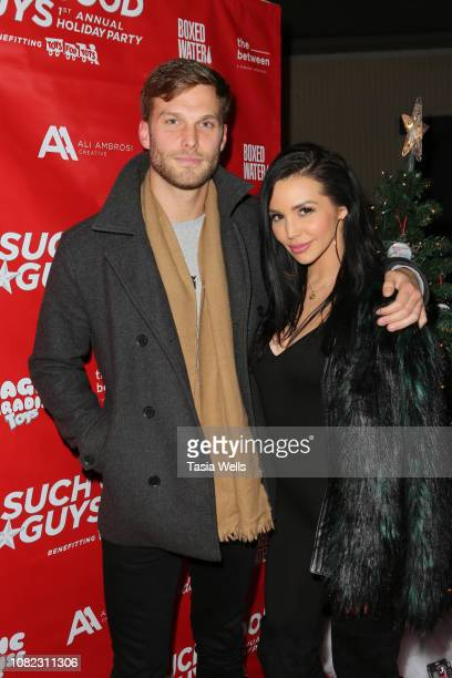 Adam Spott and Scheana Marie attend Such Good Guys Productions Holiday Event and Toy Drive at The Pikey on December 13 2018 in West Hollywood...