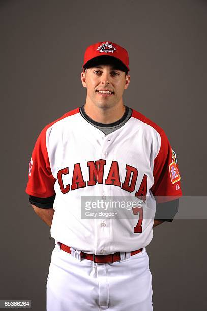 Adam Stern of team Canada poses during a 2009 World Baseball Classic Photo Day on Monday March 2 2009 in Dunedin Florida