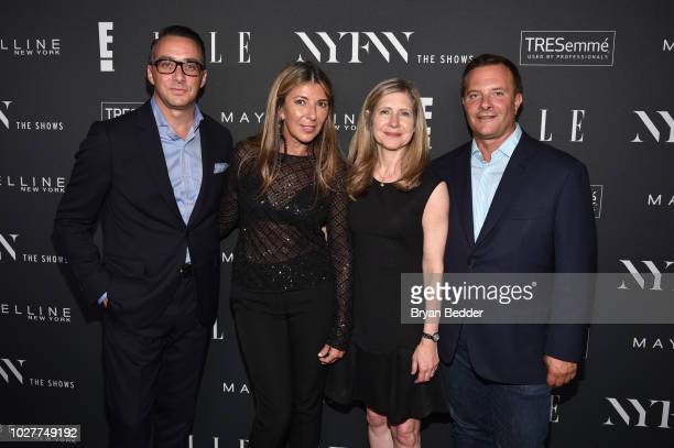 Adam Stotsky Nina Garcia Frances Berwick and Ivan Bart attend as E ELLE IMG celebrate the KickOff To NYFW The Shows at The Pool on September 5 2018...