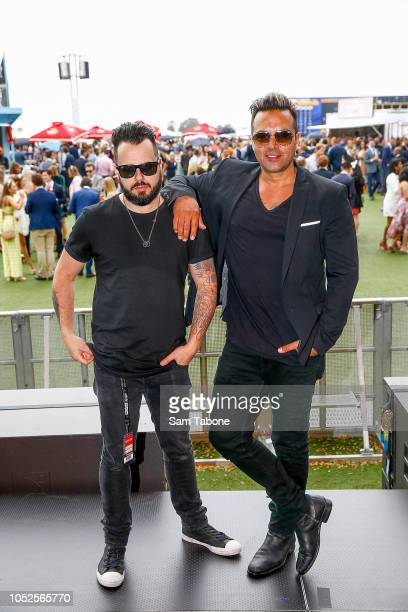 Adam Surace and Jason Singh attends 2018 Caulfield Cup Day at Caulfield Racecourse on October 20 2018 in Melbourne Australia